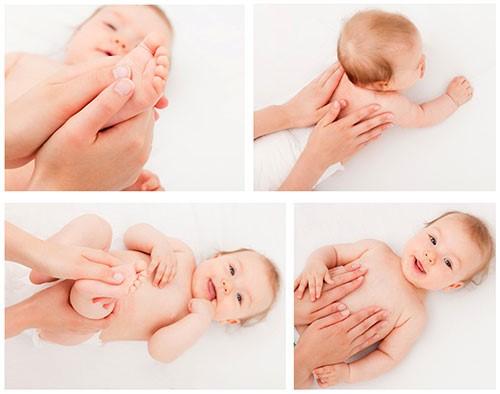 Общий массаж для грудничков